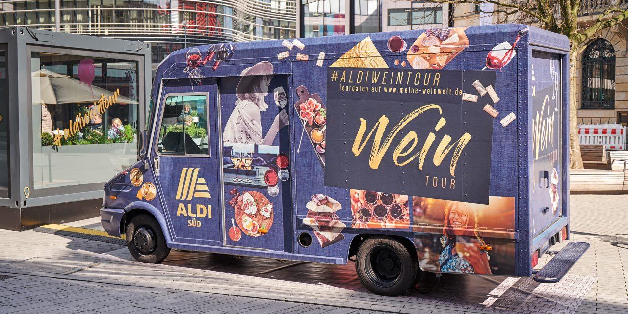 Aldi Süd: mit Wein-Truck auf Stadtfesten